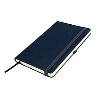 Бизнес-блокнот OXI, A5, темно-синий, твердая обложка, RPET, в линейку, фото 1