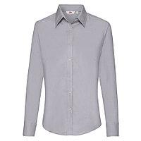 """Рубашка """"Lady-Fit Long Sleeve Oxford Shirt"""", светло-серый_M, 70% х/б, 30% п/э, 135 г/м2"""