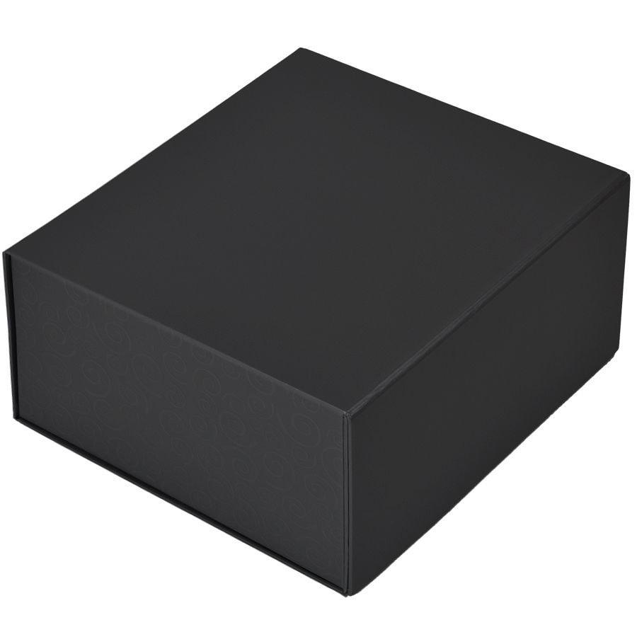 Коробка подарочная складная,  черный, 22 x 20 x 11cm,  кашированный картон,  тиснение, шелкогр.