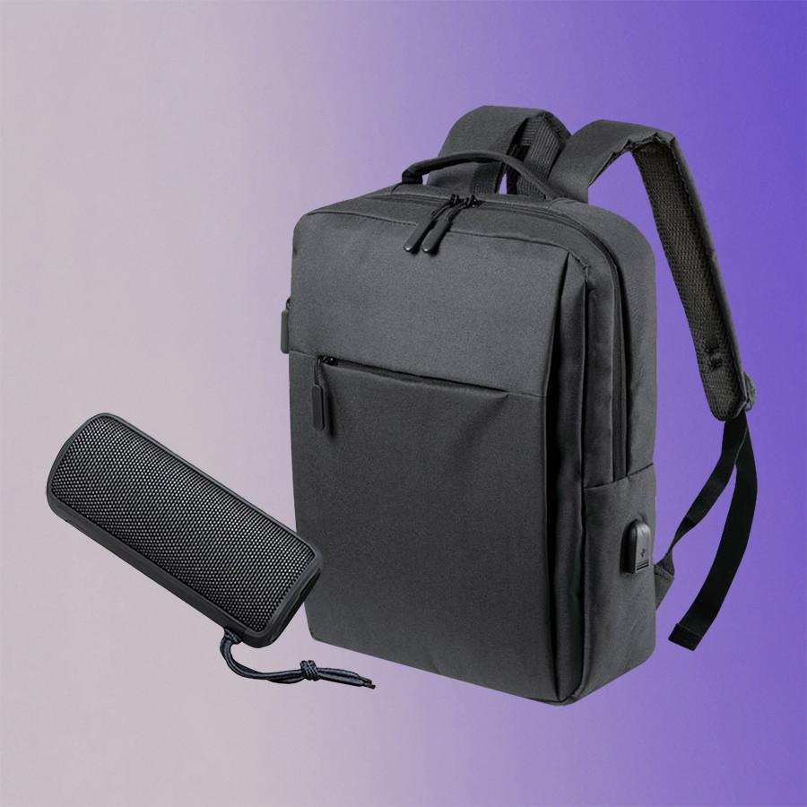 Набор подарочный CITYSOUND: колонка беспроводная, рюкзак, черный