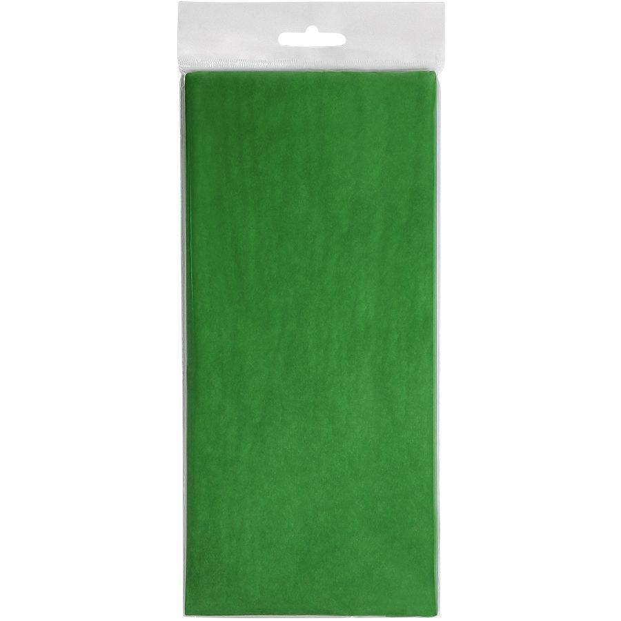 """Упаковочная бумага """"Тишью"""", зеленый, 10 листов в упаковке, размер листа 50*75 см"""