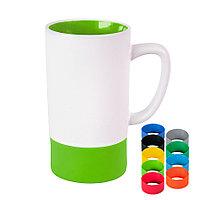Кружка FUN2, белый со светло-зеленым, 470 мл, керамика, фото 1