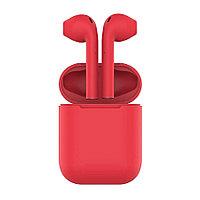 Наушники беспроводные с зарядным боксом TWS AIR SOFT, цвет красный