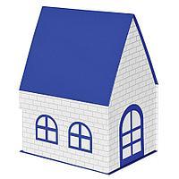 """Коробка подарочная """"ДОМ"""" складная, синий, 15*21*27 см, кашированный картон, тиснение"""