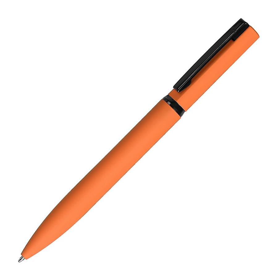 MIRROR BLACK, ручка шариковая, оранжевый, металл, софт- покрытие