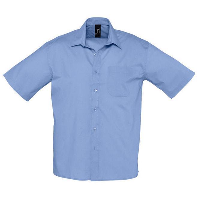 """Рубашка""""Bristol"""", васильковый_M, 65% полиэстер, 35% хлопок, 105г/м2"""