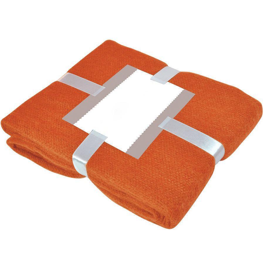 "Плед ""MOHAIR"", оранжевый,  130х150 см; акрил,"