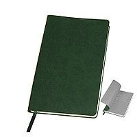 """Бизнес-блокнот """"Funky"""", 130*210 мм, зеленый, серый форзац, мягкая обложка, в линейку"""