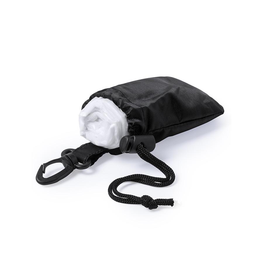 Дождевик DOMIN в чехле, черный, 9х11х5см, черный, полиэтилен, полиэстер