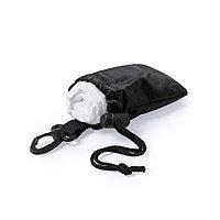 Дождевик DOMIN в чехле, черный, 9х11х5см, черный, полиэтилен, полиэстер, фото 1