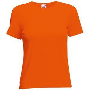 "Футболка ""Lady-Fit Crew Neck T"", оранжевый_S, 95% х/б, 5% эластан, 210 г/м2"
