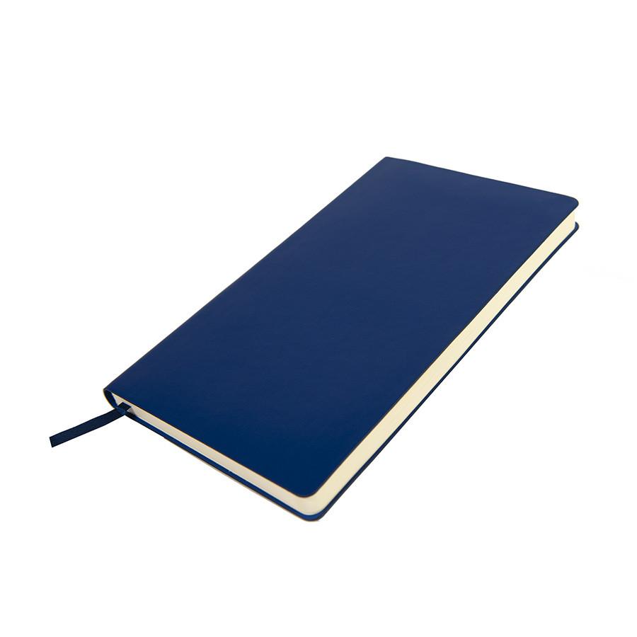 Бизнес-блокнот SMARTI, A5, синий, мягкая обложка, в клетку