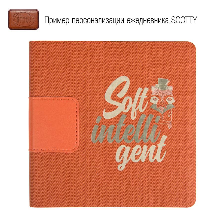 Ежедневник недатированный Scotty, А5-, красный, кремовый блок, без обреза - фото 4