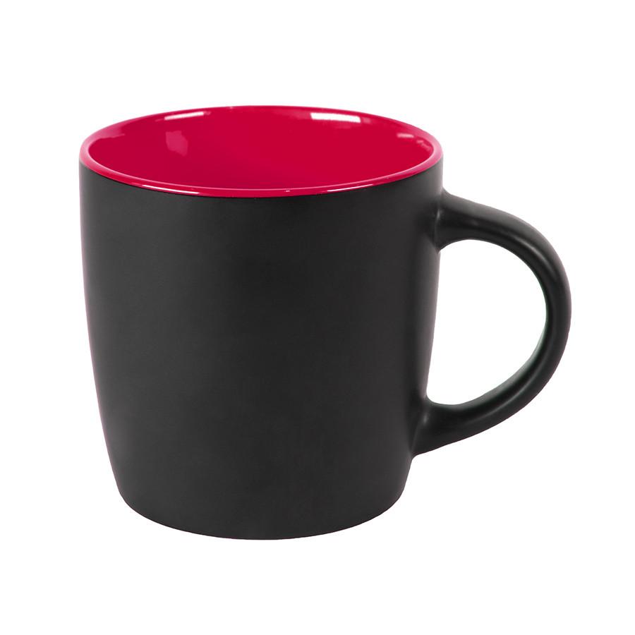 Кружка INTRO, черный с красным, 350 мл, керамика