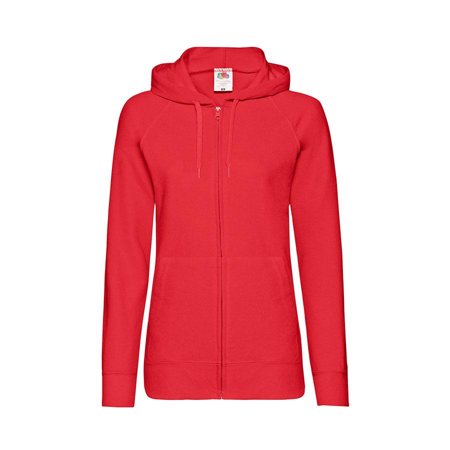 "Толстовка без начеса ""Ladies Lightweight Hooded Sweat"", красный, S, 80% х/б 20% полиэстер, 240 г/м2"