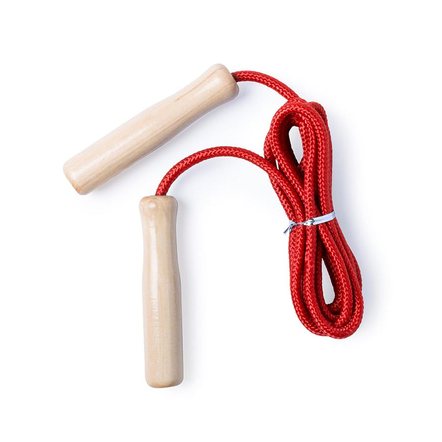 Скакалка GALTAX, красный, дерево, полиэстер