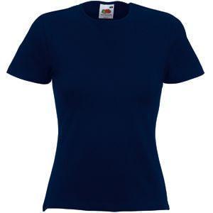 """Футболка """"Lady-Fit Crew Neck T"""", глубокий темно-синий_XS, 95% х/б, 5% эластан, 210 г/м2"""