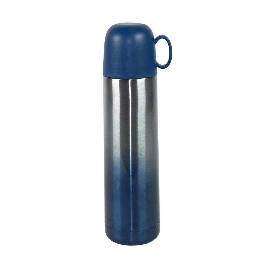 Термос вакуумный GRADIENT, сталь, синий, 500 мл
