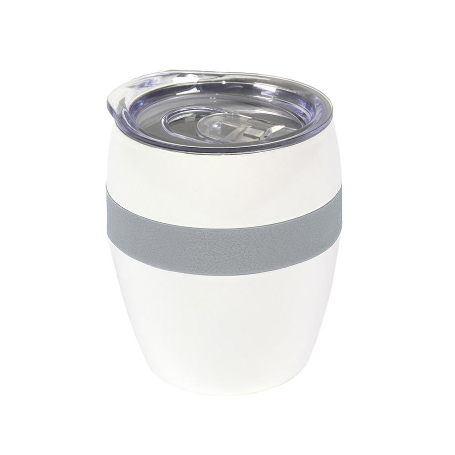Термокружка LINE, белый/серый, сталь, 300 мл