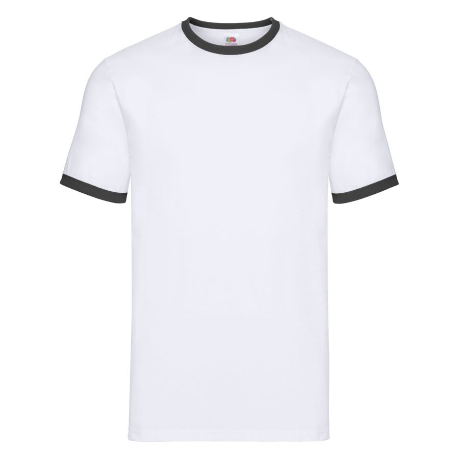 """Футболка """"Ringer T"""", белый с черным_XL, 100% х/б, 160 г/м2"""