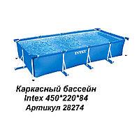 Каркасный бассейн прямоугольный Intex