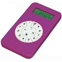 Калькулятор; розовый; 5,8х10,2х0,8 см; пластик