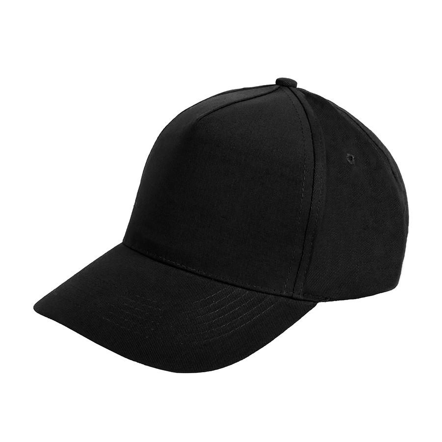 """Бейсболка """"Premium S"""", 5 клиньев, металлическая застежка; черный; 100% хлопок; плотность 350 г/м2"""