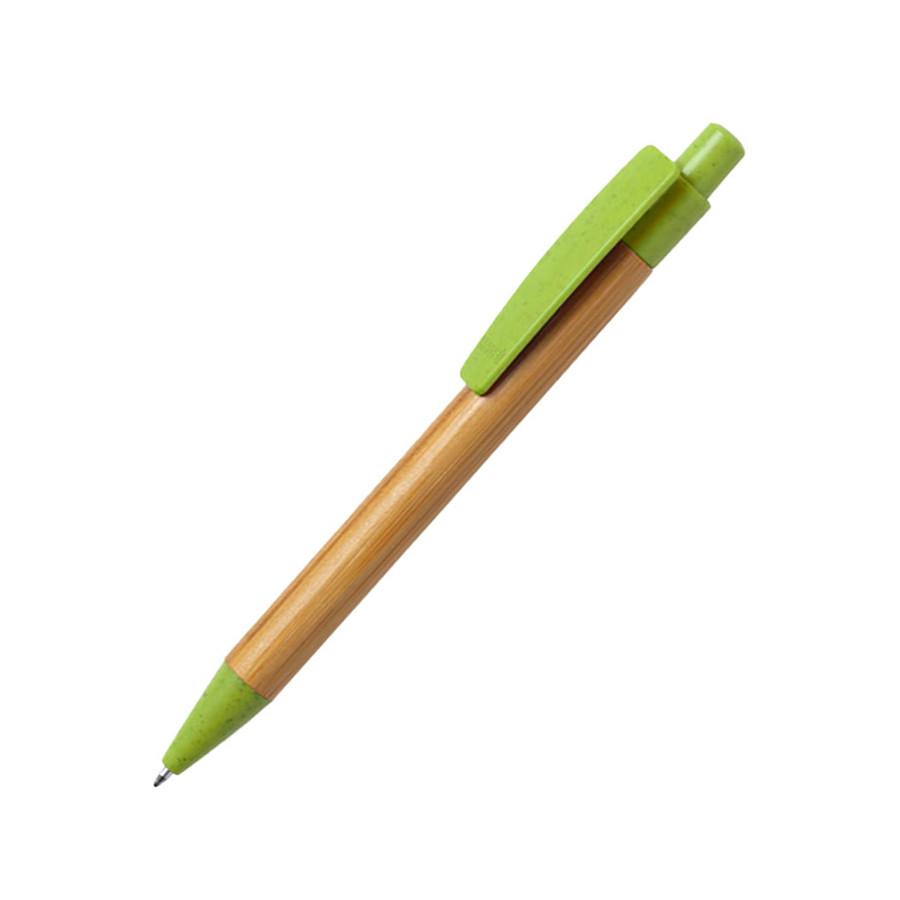SYDOR, ручка шариковая, светло-зеленый, бамбук, пластик с пшеничной соломой