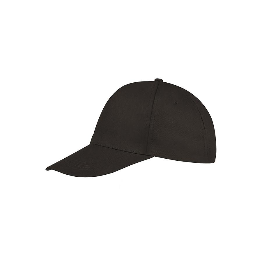 """Бейсболка """"BUZZ"""", 5 клиньев, застежка на липучке, темно-серый, хлопок 100%, плотность 150 г/м2"""