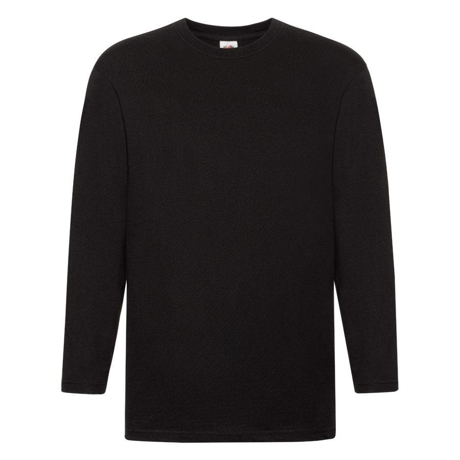 """Футболка """"Super Premium Long Sleeve"""", черный, M, 100% х/б, 205 г/м2"""