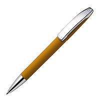 Ручка шариковая VIEW, покрытие soft touch, охра, пластик, металл