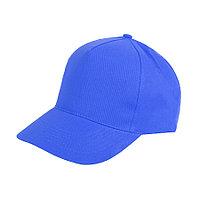 """Бейсболка """"Light"""", 5 клиньев,  застежка на липучке; ярко-синий; 100% хлопок; плотность 150 г/м2, фото 1"""