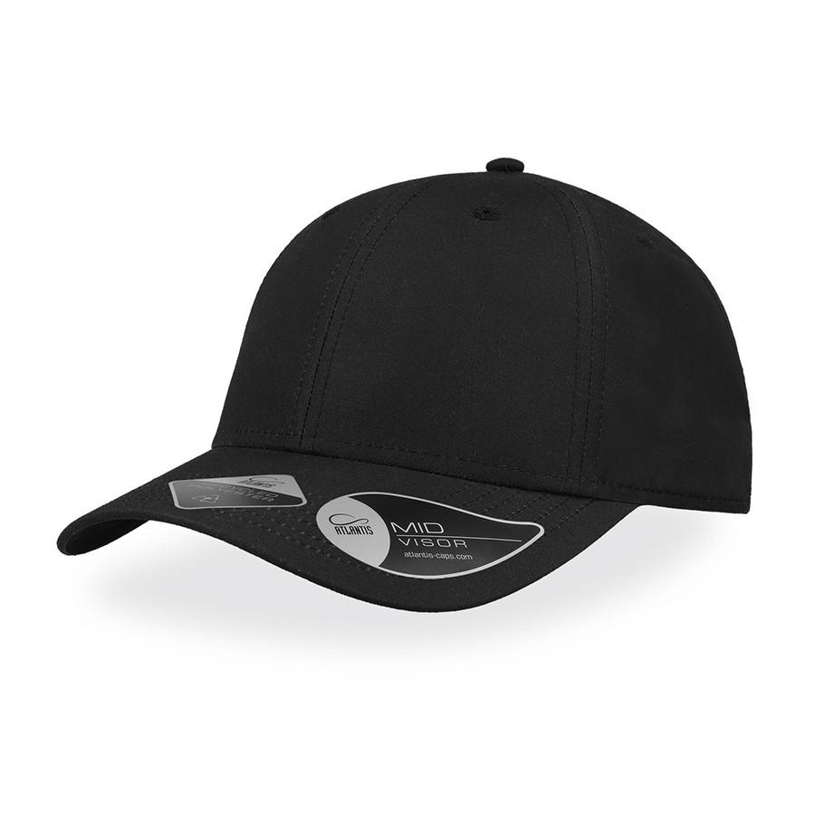 """Бейсболка """"RECY FEEL"""", 6 клиньев, пласт. застежка, черный, 100 % переработанный п-тер, 115 г/м2"""
