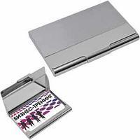 Визитница; серебристый; 9,4х6,2х0,9 см; металл
