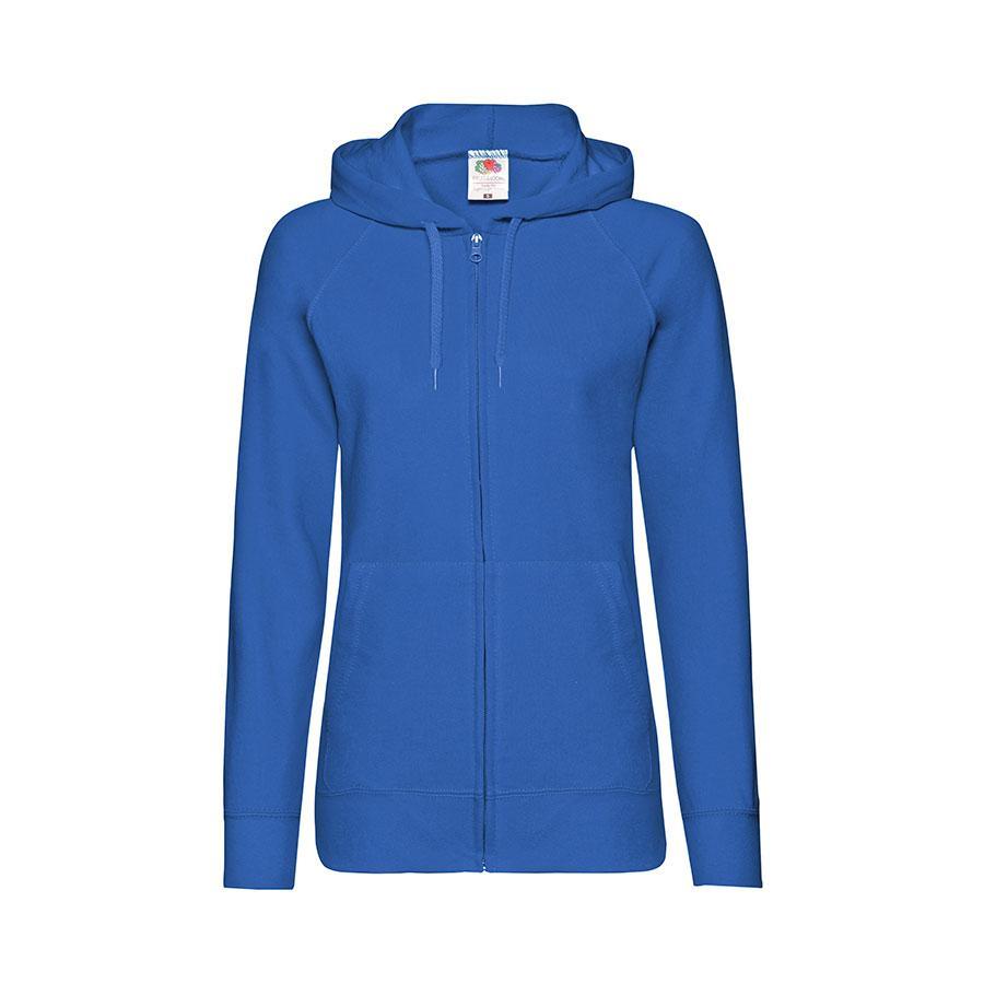"Толстовка без начеса ""Ladies Lightweight Hooded Sweat"", ярко-синий, S, 80% х/б 20% полиэстер, 240 г/м2"