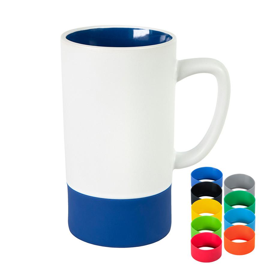 Кружка FUN2, белый с синим, 470 мл, керамика