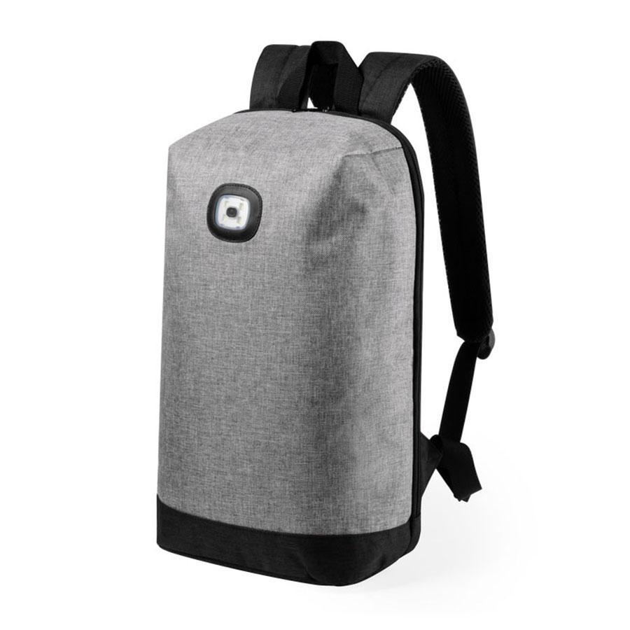 "Рюкзак с индикатором""Krepak"", серый, 43x30x13,5 см, 100% полиэстер 600D"