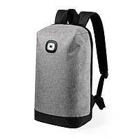 "Рюкзак с индикатором""Krepak"", серый, 43x30x13,5 см, 100% полиэстер 600D, фото 1"