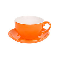 Чайная/кофейная пара CAPPUCCINO, оранжевый, 260 мл, фарфор