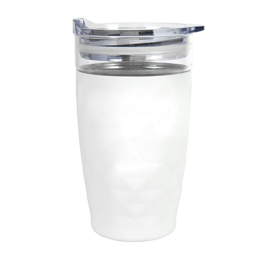 """Термокружка вакуумная """"Cristal""""; белый; 350 мл; металл; стекло"""