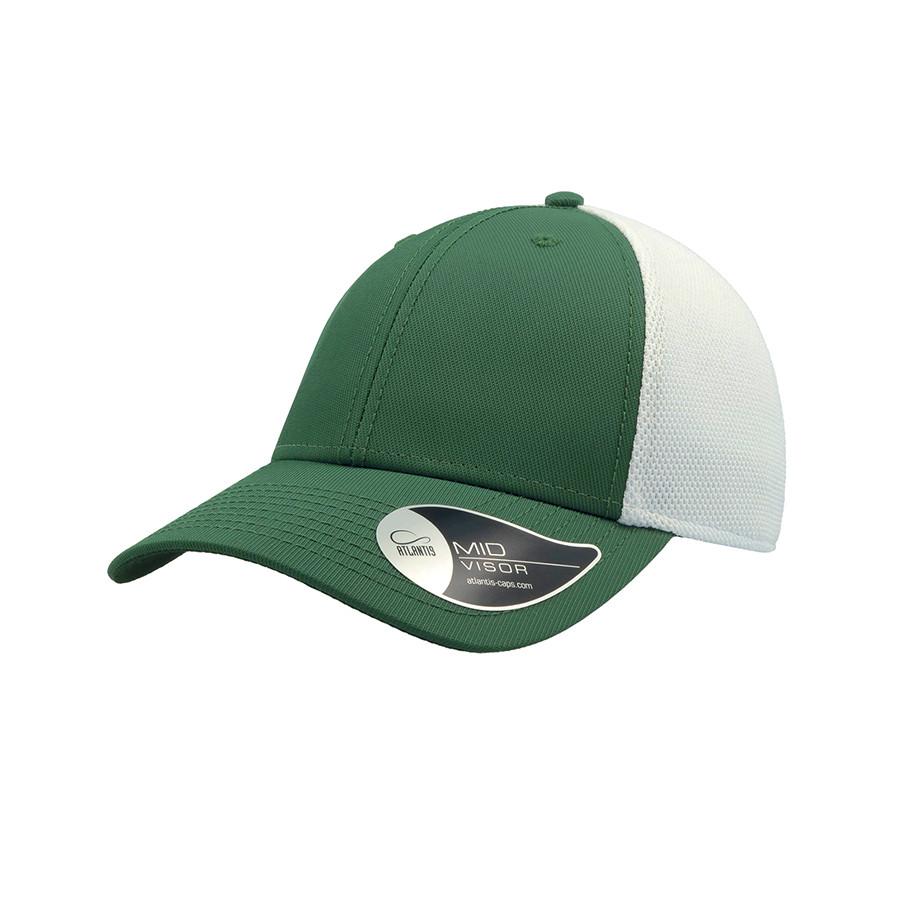 """Бейсболка """"Campus"""", белый/зеленый, 100% полиамид, 244 г/м2"""