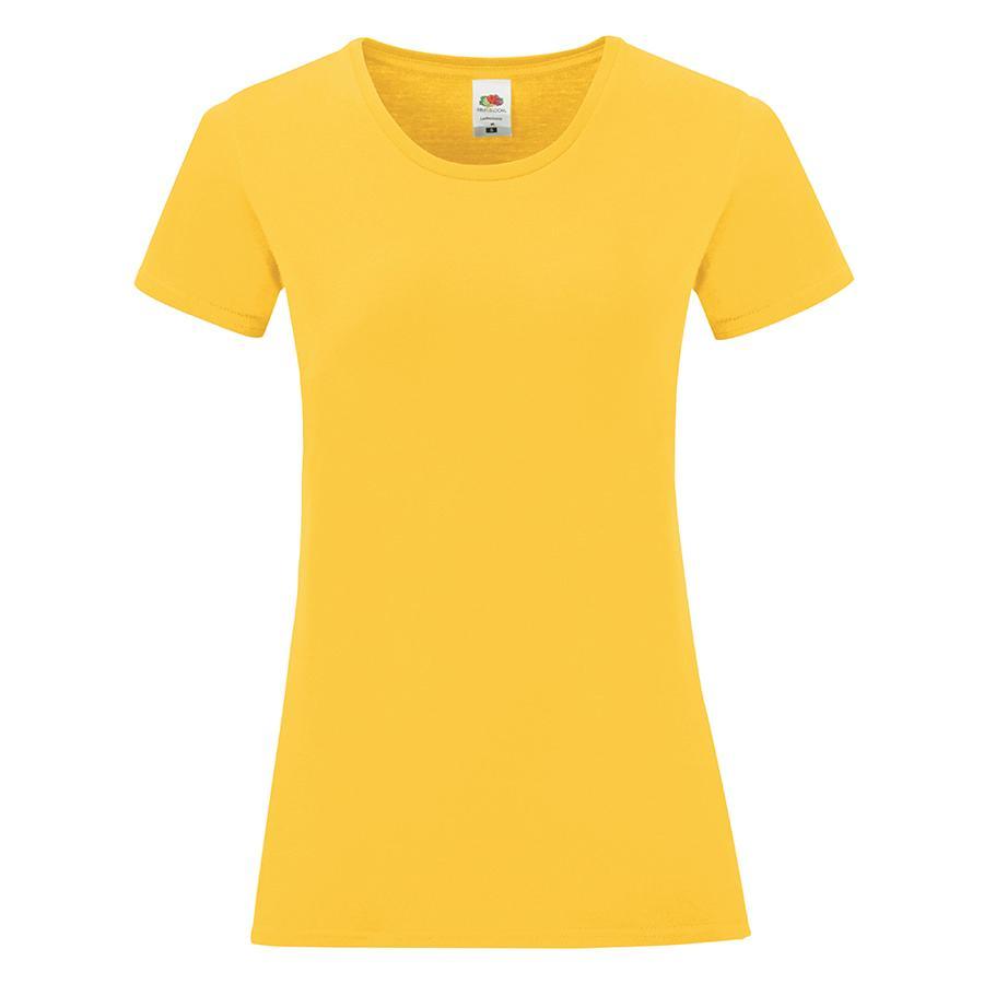 """Футболка """"Ladies Iconic"""", желтый, S, 100% хлопок, 150 г/м2"""