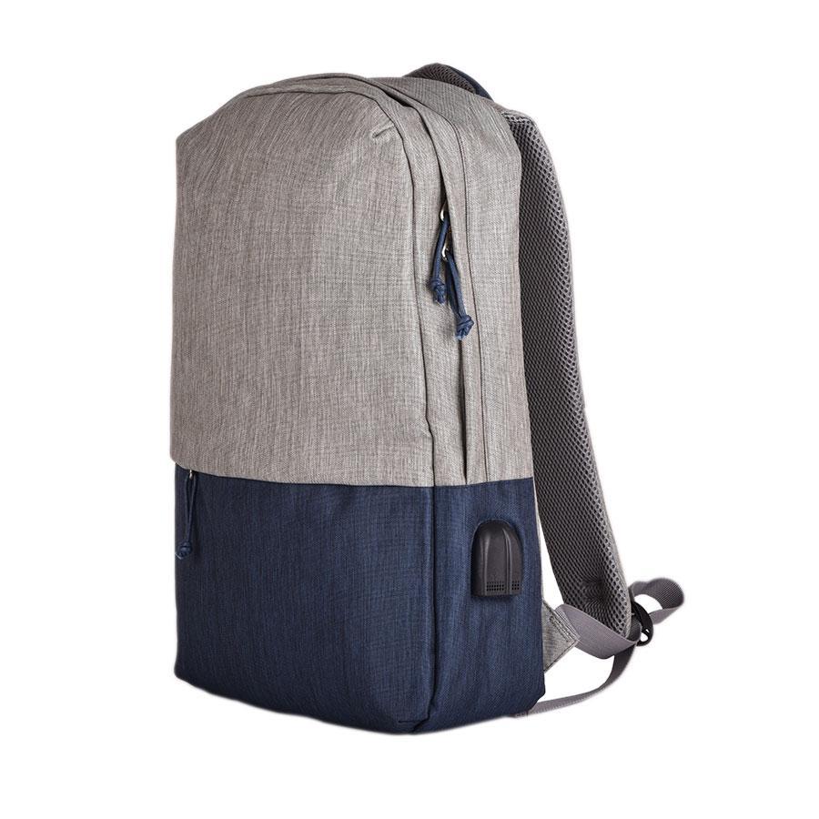 "Рюкзак ""Beam"", серый/темно-синий, 44х30х10 см, ткань верха: 100% полиамид, подкладка: 100% полиэстер"