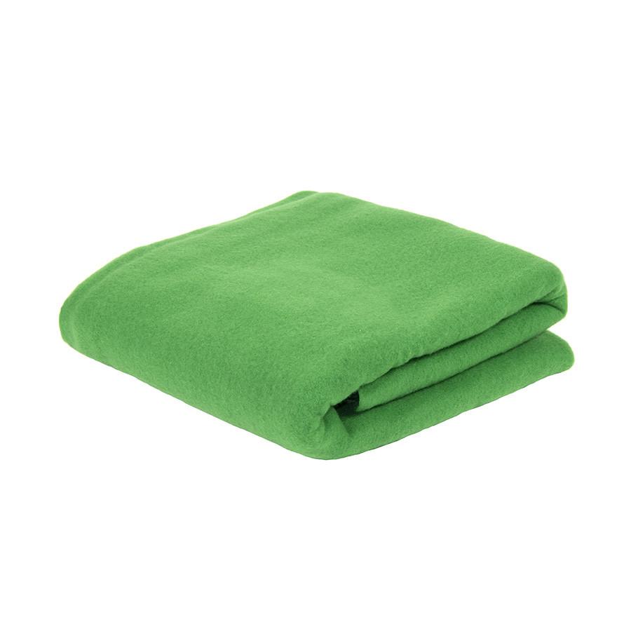 Плед PLAIN; зеленый; 100х140 см; флис 150 гр/м2