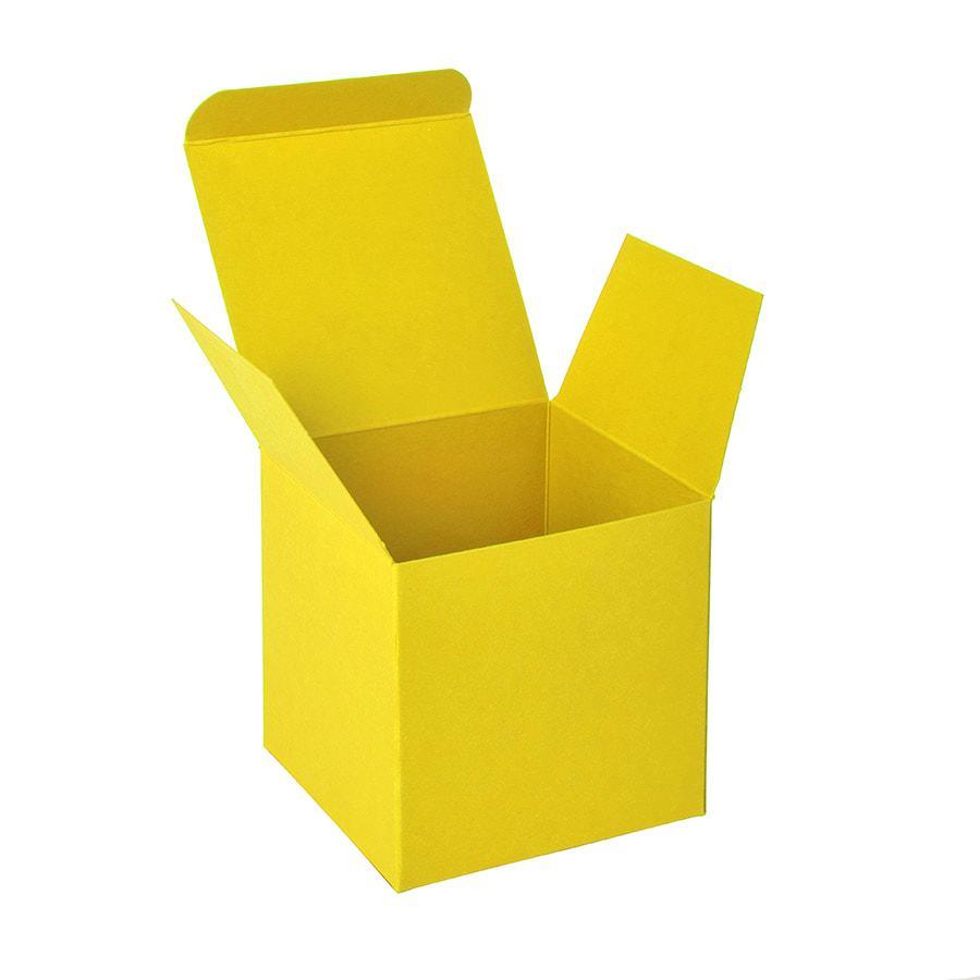 Коробка подарочная CUBE; 9*9*9 см; желтый