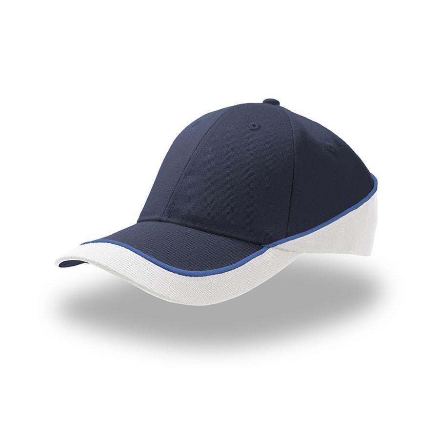 "Бейсболка ""Racing"", темно-синий/белый, 94% полиэстер 6% вискоза, 180  г/м2"