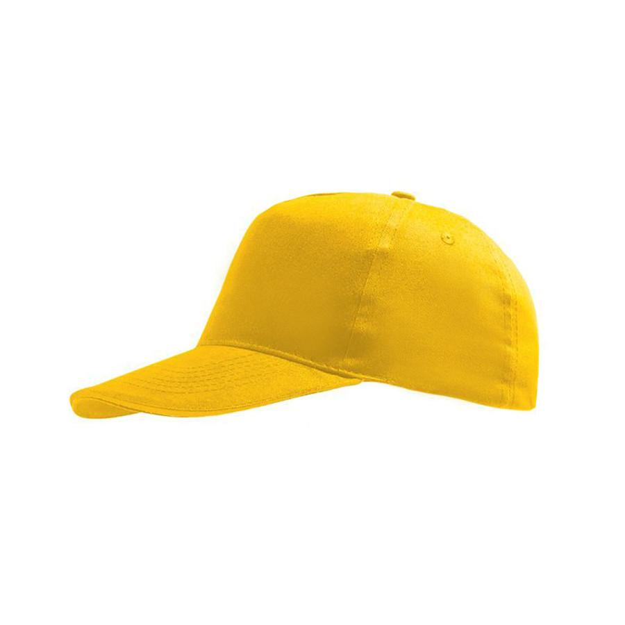 """Бейсболка детская """"SUNNY KIDS"""", 5 клиньев, на липучке, желтый, 100% хлопок, плотность 180 г/м2"""