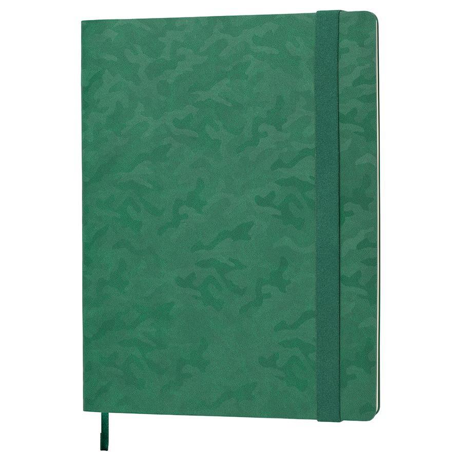 Бизнес-блокнот Tabby Biggy, гибкая обложка, в клетку, зеленый