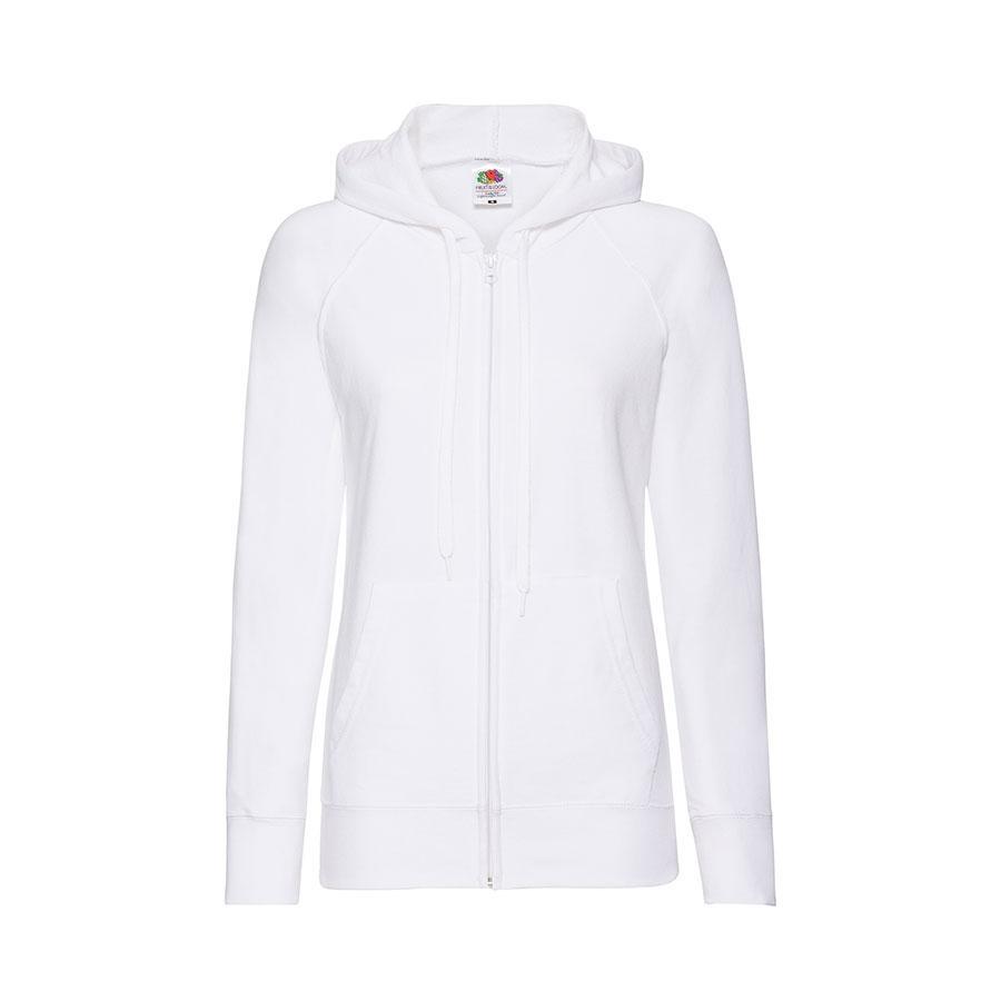 "Толстовка без начеса ""Ladies Lightweight Hooded Sweat"", белый, XS, 80% х/б 20% полиэстер, 240 г/м2"