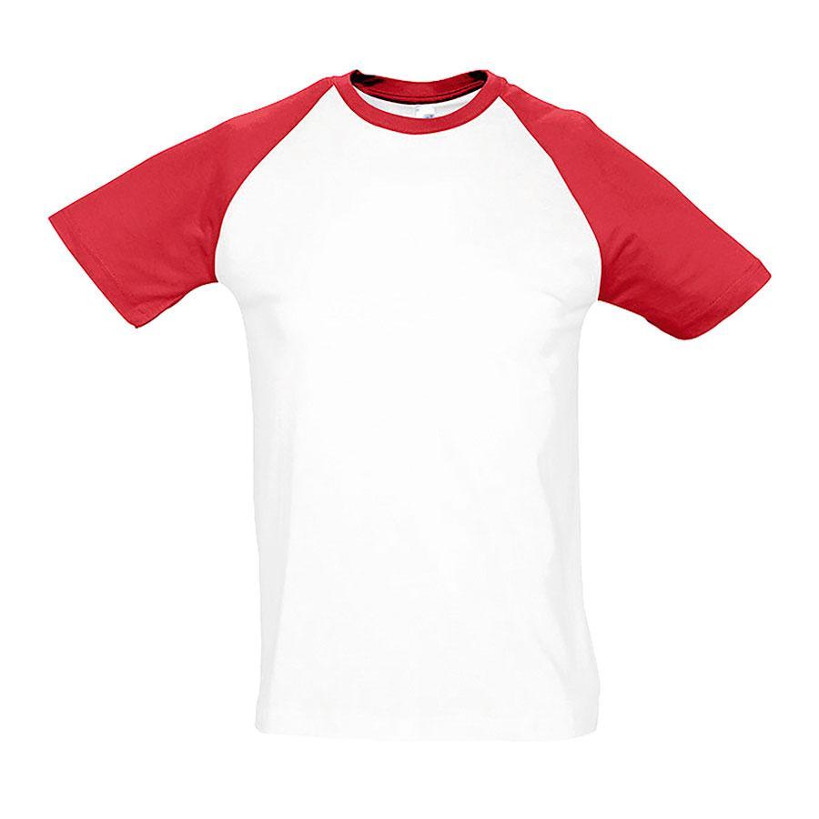 """Футболка """"Funky"""", белый с красным_L, 100% х/б, 150 г/м2"""